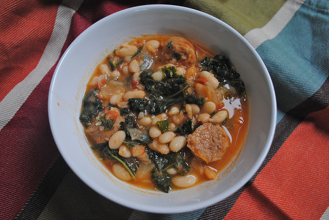 Cannellini Kale and Sausage Soup