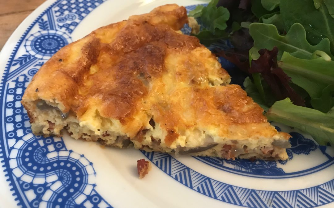Onion and Pancetta Crustless Quiche