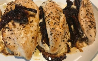 Sun Dried Tomato and Fontina Stuffed Chicken Breasts